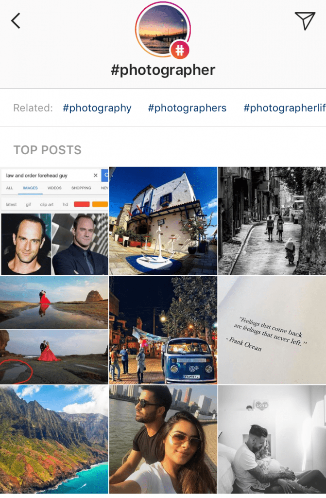 general product or industry hashtag for instagram