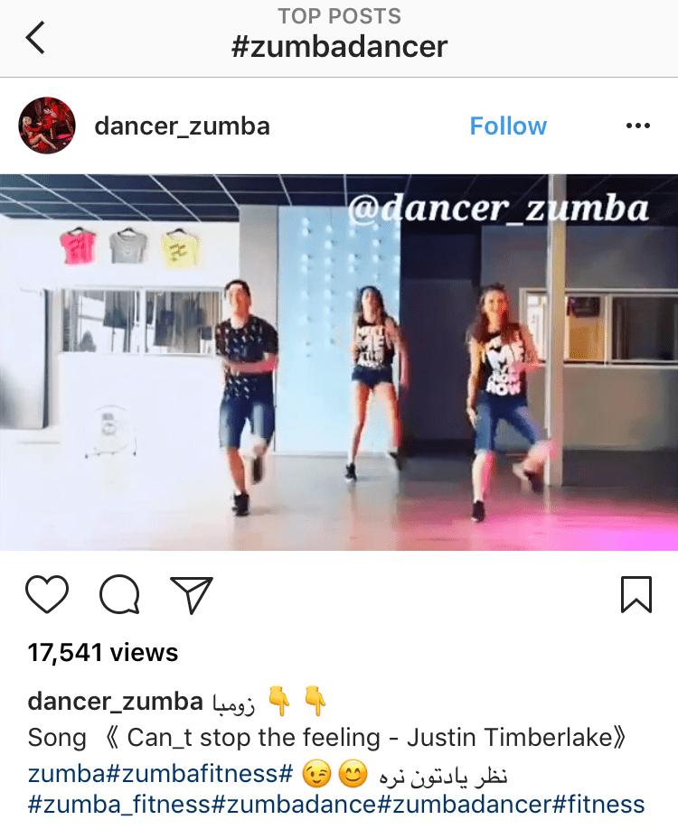 zumba dancer instagram hashtags