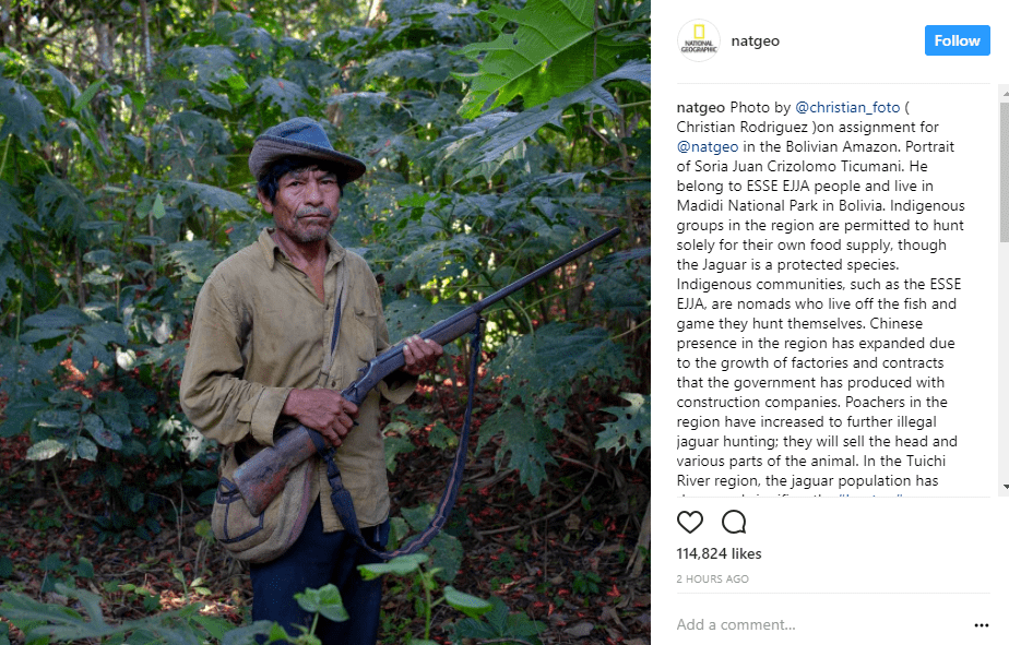 nat geo instagram captions use storytelling