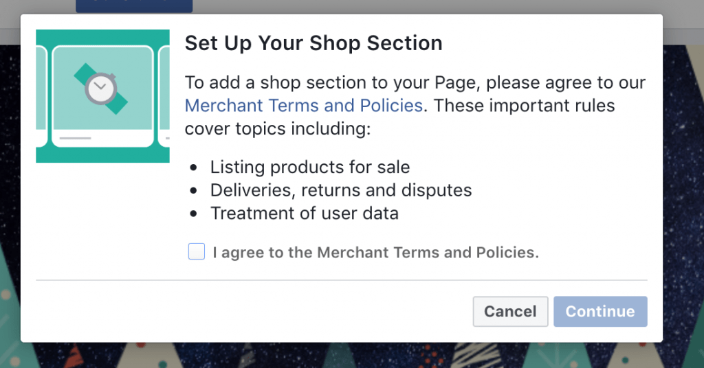 Set up Shop Section for Instagram Product Tags